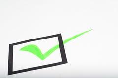 Ein Checklistenformular stockfoto