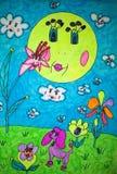 Ein childs Zeichnen Lizenzfreies Stockbild