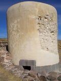 Ein Chullpa, alter Aymara Funerary Tower für eine edle Familie Stockfotografie