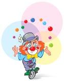 Ein Clown-Jongleur Lizenzfreies Stockfoto