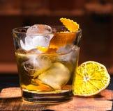 Ein Cocktail an der Bar Lizenzfreies Stockbild