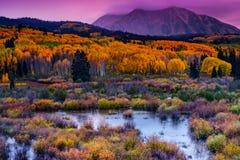 Ein Colorado-Fall entlang Kebler-Durchlauf Lizenzfreies Stockfoto
