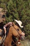 Ein Cowgirl-Inneres stockfotografie