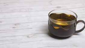 Ein Cup grüner Tee Stockbild