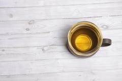 Ein Cup grüner Tee Stockfoto