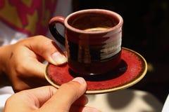 Ein Cup köstlicher Kaffee Stockfotos