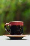 Ein Cup köstlicher Kaffee Stockbild