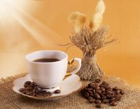 Ein Cup schwarzer Kaffee lizenzfreie stockfotografie