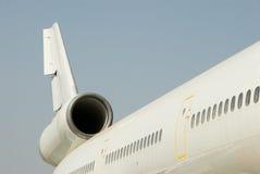 Ein Düsenflugzeug Stockbild