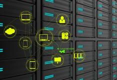 Ein Datenverarbeitungsdiagramm der Wolke Lizenzfreies Stockbild
