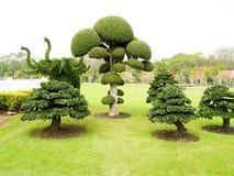 Ein dekorativer Garten Stockbild
