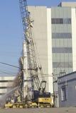 Ein demoliertes Gebäude am olympischen Boulevard nach dem Northridge Erdbeben 1994 Stockbild