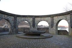Ein Denkmal in Andernach, Deutschland lizenzfreies stockbild