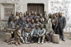 Ein der vierköpfigen Familie der Generationen Foto zusammen Stockbilder