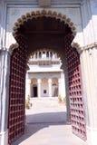Ein des Eingangs des Stadt-Palastes, Udaipur Stockfotografie