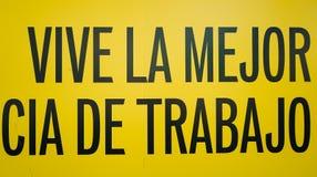 Ein des Zeichens Spanisch herein Stockbild