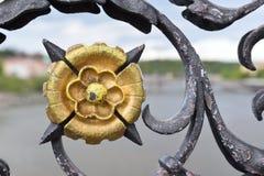 Ein Detail der Charles-Brücke, Prag Lizenzfreie Stockfotografie