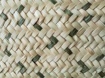 Ein Detail des gestrickten Korbes Stockbilder