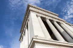 Ein Detail des gigantischen Monuments des Altars vom Vaterland (viktorianisch) nach Rom (Italien) Lizenzfreie Stockfotografie