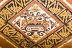 Ein Detail einer Moche-Tempelruine Lizenzfreies Stockbild