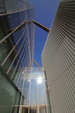 Ein Detail von Isozaki-Turm bei Citylife; Mailand, Italien Lizenzfreie Stockfotografie