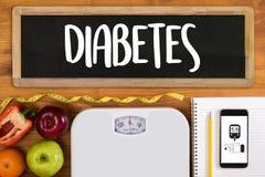 ein Diabetestest, Gesundheit medizinisches Konzept, Korpulenz, Blutprobe stockfotografie