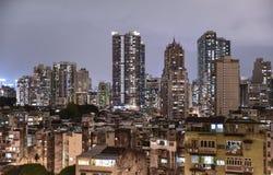 Ein dichtes Wohngebiet in Macau Stockbilder