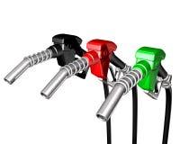 Ein Diesel und Pumpendüse des Benzins zwei Stockfoto