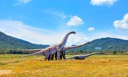 Ein Dinosaurier im Sterndinosaurierbereich Stockfotografie