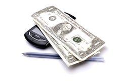 ein-Dollar-Banknoten stockfotos