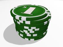 Ein-Dollar-Chips Lizenzfreies Stockfoto