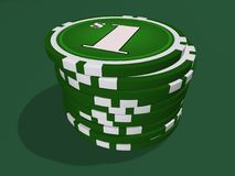 Ein-Dollar-Chips Lizenzfreies Stockbild