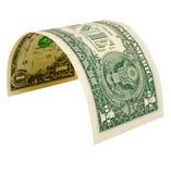 Ein Dollar getrennt Lizenzfreie Stockfotografie