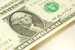 Ein Dollar mit einer Anmerkung 1 Dollar Lizenzfreies Stockbild