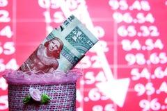 Ein Dollar und 200 ägyptisches Pfund Lizenzfreie Stockfotografie