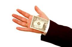 Ein Dollar von hinten die Klage Stockfoto