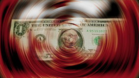 Ein Dollarbanknotendrehen stock video footage
