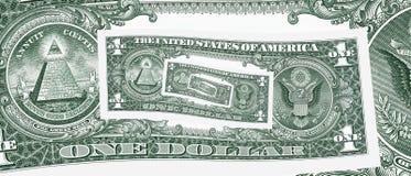 Ein Dollarregelkreisloch Lizenzfreies Stockfoto