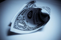 Ein Dollarschein lizenzfreie stockbilder