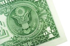 Ein Dollarschein Stockfoto