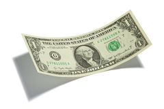 Ein Dollarschein getrennt Stockfoto