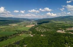 Ein Dorf in den Bergen stockfoto