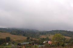 Ein Dorf in den Karpaten, Dorf urych Stockfoto