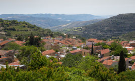 Ein Dorf in der Weinregion von Zypern Lizenzfreie Stockfotos