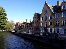 Ein Drängen, Brügge - Belgien zu besichtigen stockfoto