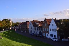 Ein Drängen, Brügge - Belgien zu besichtigen lizenzfreie stockbilder