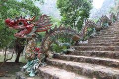 Ein Drachetreppenhaus, Ninh Binh Province, Nord-Vietnam stockfotografie