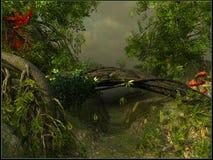Ein Durchgang in einem Dschungel Lizenzfreie Stockbilder