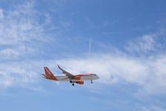 Ein EasyJet-Flugzeug Stockfoto