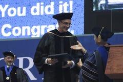Ein Ehrendoktorgrad geschenkt an NAU Stockfotografie